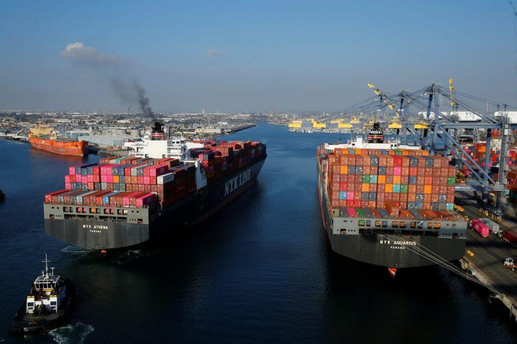 Port Backup in LA.